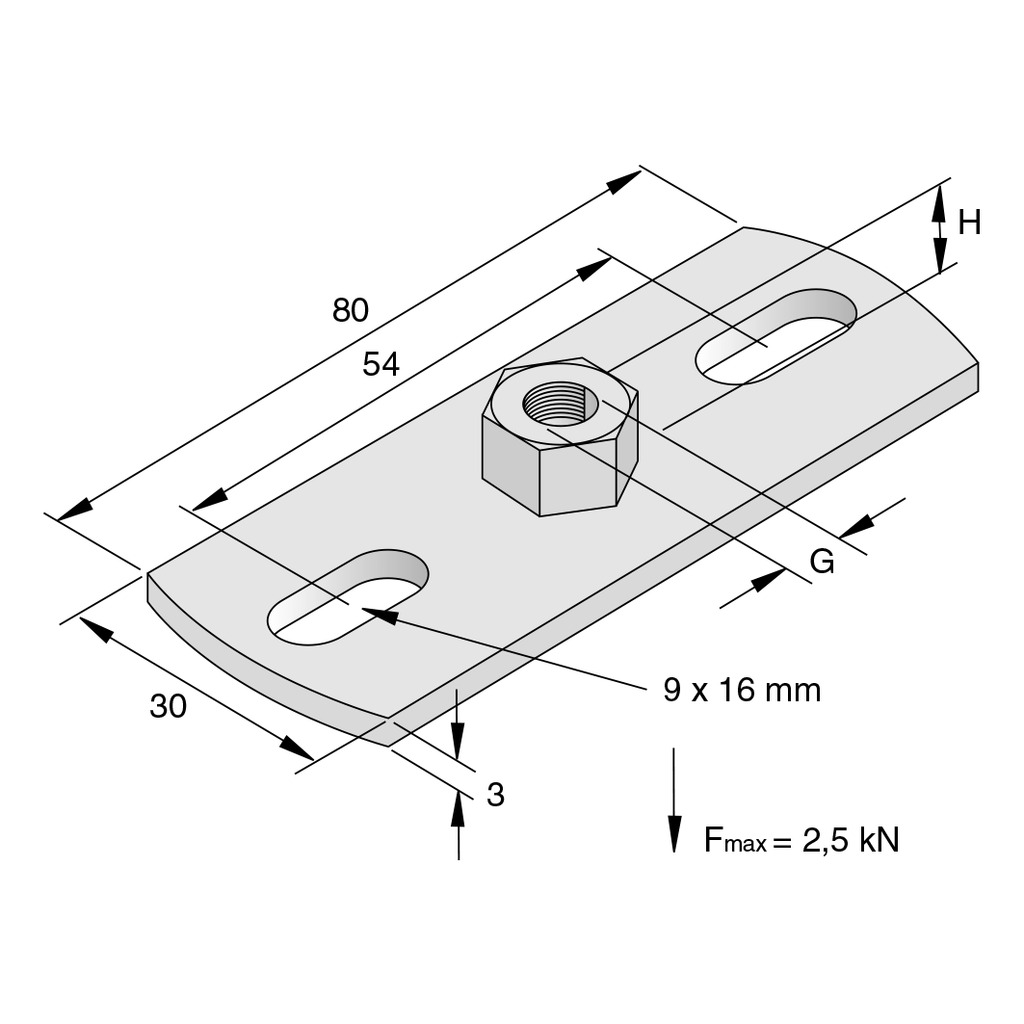 BASE PLATE TYPE L